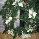 "click to enlarge photo - Large Wreath on 32"" Tall x 10"" Wide Wreath Stand"